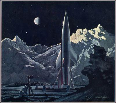 Bonestell_rocket_on-moon-3